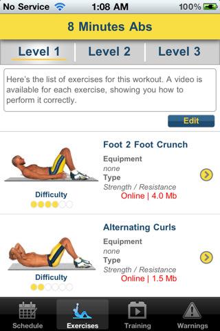 8 Minutes Abs Workout Screenshot