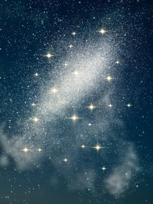 Stars in the night sky Image