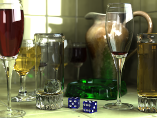 3D Glass Scene Image