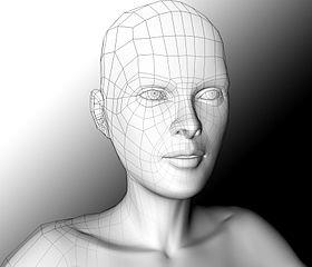 3D Modelled face image