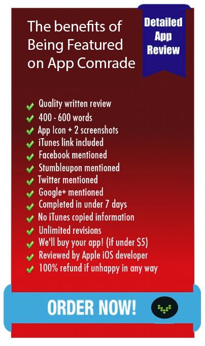 App Comrade Order Page